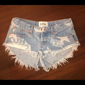 One Teaspoon Star Shorts